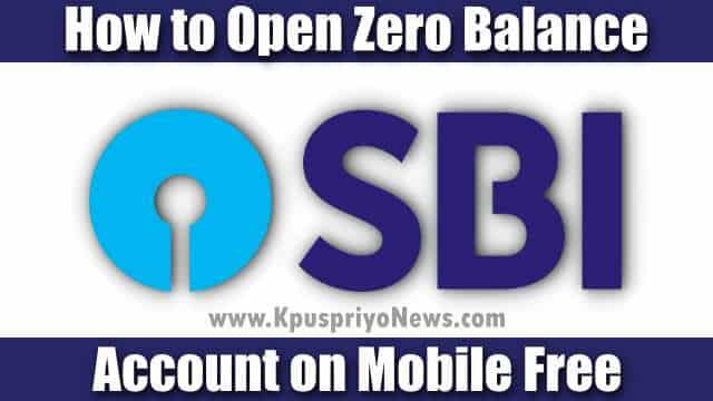 how to open sbi account online India