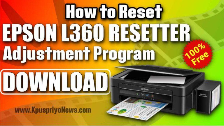 Epson-L360-resetter-Adjustment-Program