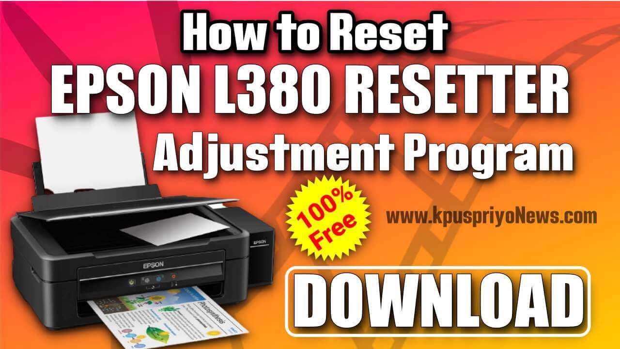 Epson-L380-resetter-Adjustment-Program