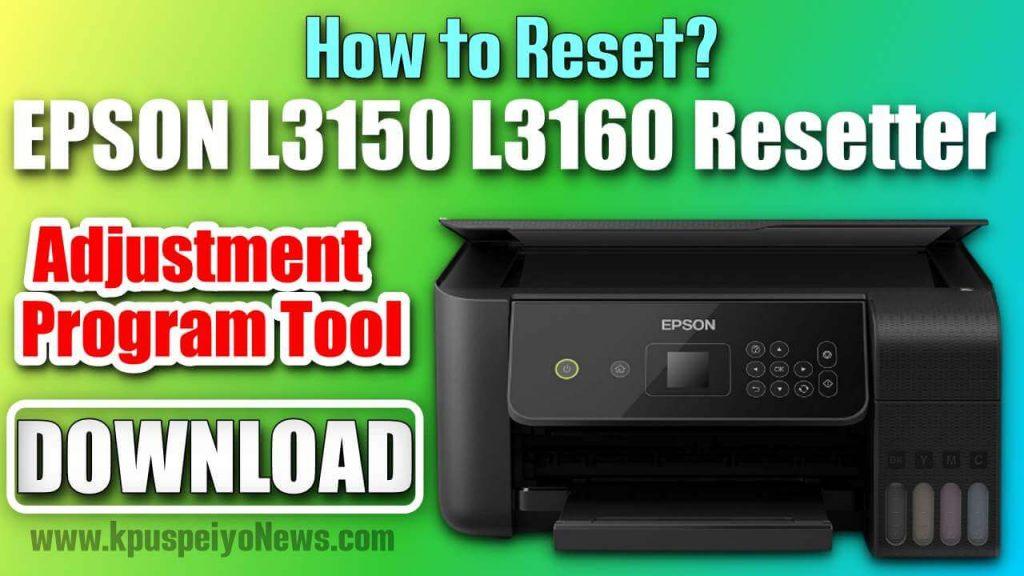 EPSON L3150 L3160 Resetter