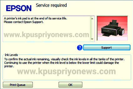Epson L805 Printer Service Required